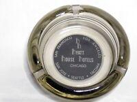 Vintage Hyatt House Hotels Chicago Smoked Glass Ashtray