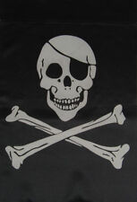 "12x18 12""x18"" Pirate Eye Patch Double Sided Vertical Sleeve Flag Garden"