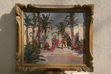 tableau H/T orientaliste oasis signé en bas à droite