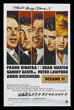OCEANS ELEVEN * CineMasterpieces  OCEAN'S 11 ORIGINAL MOVIE POSTER 1960 RAT PACK