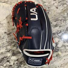 "Under Armour Genuine Pro USA Series Field Glove 12"" UAFGGP-12002P Navy/Red LHT"