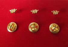 Franc maçonnerie lot de trois pin's Acacia en métal doré