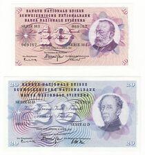 SWITZERLAND - 10 & 20 Franken - Pick ref: 45i & 46k.