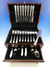 William & Mary by Lunt Sterling Silver Flatware Set for 8 Service 46 pcs Dinner