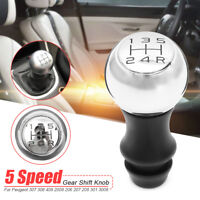 Gear Shift Knob 5 Speed Manual Stick For Peugeot 307 308 408 2008 206 207 208