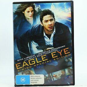 Eagle Eye DVD 2-Disc Set Shia LaBeouf Good Condition Free AU Tracked Post
