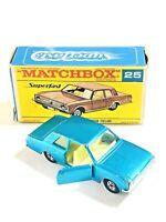 Matchbox Lesney Superfast FORD CORTINA GT Mk1 - 25 RARE F box