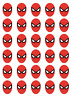 30 Spiderman Edible Rice Wafer Paper Cake Cupcake Toppers Decorations Fairy Cake