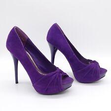 Women's Shoes Size 6 Anne Michelle Purple Peep Toe Stiletto Heel Dynamite 29