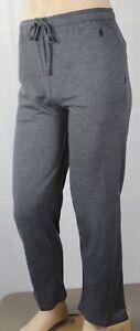 POLO Ralph Lauren Grey Pajamas Lounge Sleep Pants Black Pony NWT