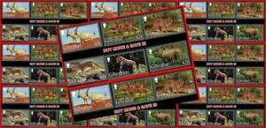 GIBRALTAR 2012 WILD ANIMALS x10 sets MNH CV$82.50 $WHOLESALE $