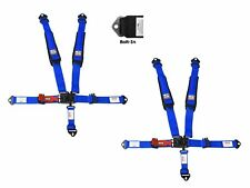Simpson 2x2 Latch & Link Racing Harnesses Bolt In Blue W/Black Hardware