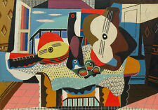 """Mandolin & Guitar (1924) Signed Pablo Picasso - 17"""" x 22"""" Fine Art Print - 00899"""