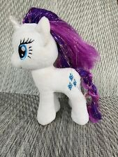 Ty My Little Pony Plush Rarity Sparkle Beanie Retired 2015 White Glitter Unicorn