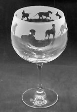 More details for great dane dog frieze boxed 70cl glass gin balloon