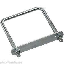 """30 Pk Steel 3/8"""" Dia 4"""" W X 5"""" L  Square U Bolt U Clamp W/Nuts  N222398"""