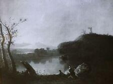 """Landscape with Ruins"", Richard Wilson, Magic Lantern Glass Art Slide"