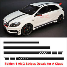Edition 1 Style Stripe Top Side Sticker for Mercedes Benz W176 A Class AMG Black