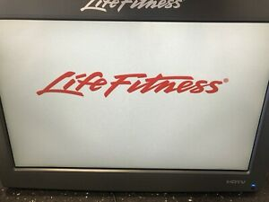 """Tested Life Fitness Gray LCD Monitor 17"""" TV Entertainment System P/N LCD-0201-03"""