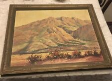 LISTED Artist Edward Langley 1931 PLEIN Air Art Palm Canyon So Calf Estate Oil