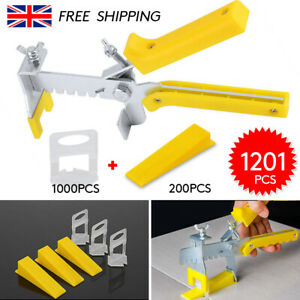 1201 Pcs Tile Leveling Spacer System Clips&Wedges&Plier Tool Tiling Flooring Kit