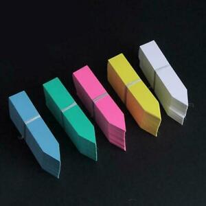 100X Plant Marker T-type Garden Labels Flexible Plastic Decor Tags Nursey T4K0
