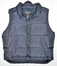 Eddie Bauer Goose Down Vest Black Puffer Zip Front Men's Large