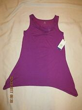 GAIAM new with tags yoga TANK top size XS style 44-00153 FUSHIA draped neck