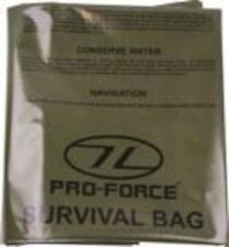 HIGHLANDER CS037M EMERGENCY SURVIVAL SLEEPING BIVI BAG OLIVE GREEN