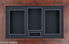 Large 3D Mahogany Effect Shadow Box Flowers Casts Medals Display & Photo Frame