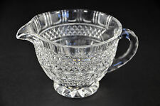 Shannon Crystal Clear Glass Creamer Serving Piece Lead Pitcher Ireland Cut Dish