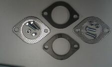 "Exhaust Flange Plate Kit - 2 1/2"" Inch (63mm) 2X Plates & Gaskets 4X Nut & Bolts"
