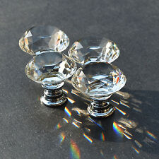 10PCS Knob alloy glass crystal sparkle cabinet drawer door pulls knobs handle