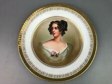 Antique Sevres Bavaria Painted Portrait Plate Thomas
