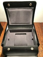 New Authentic Milleret Swiss Presentation Display Watch Box Black Leather