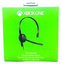 Genuine Microsoft Xbox One Chat Stereo Gaming Headset With Adapter Black New