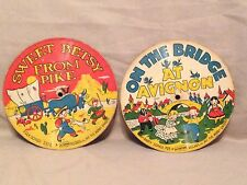 Vintage Old Children's Records-Picture Tone-The merry Singers-folk songs-party