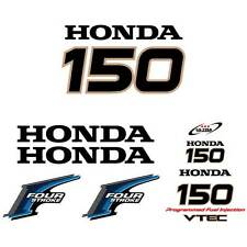 Honda 150 four stroke outboard decal aufkleber adesivo sticker set