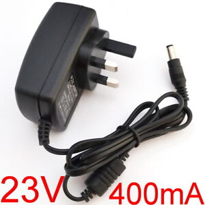 UK AC 100V-240V DC 23V 400mA Switching Power Supply adapter 0.4A Plug 5.5mm