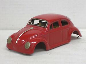 VW Käfer Karosserie in rot, Blech, Länge 15,5 cm, ohne OVP