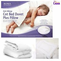 ANTI-ALLERGY COTBED DUVET MICROFIBRE COT QUILT PILLOW COT BED ALL TOG