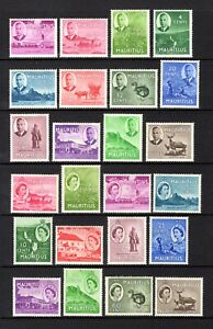 MAURITIUS 1950 sg276-287 + 1953 sg293-303 MOUNTED MINT SHORT SETS TO 1R CAT £33