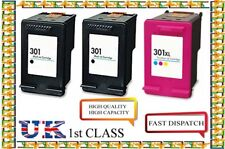 3 hp 301 Black & Colour Ink Cartridges For HP 301 Envy 4500 4502 4504 4505 4507