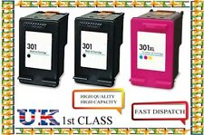 3 HP 301 Black And XL Colour Ink Cartridges For HP Deskjet 2540
