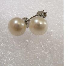 fashion1uk ACQUE DOLCI bianco avorio perla argento sterling 925 7mm Orecchini a