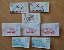 8x Stamp Booklets £1.45 to £1.55