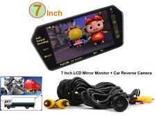 7 Inch HD Bluetooth MP5 Car Rearview Mirror Monitor + Car Reverse Backup Camera