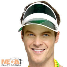 1980's Sun Sun Visor Adults Pub Golf Poker Tennis Fancy Dress Sports Costume Hat