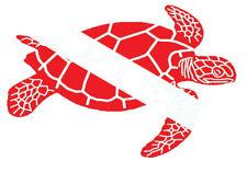 Scuba Diving Bumper Sticker Dive Flag Decal - Swimming Turtle - DS152