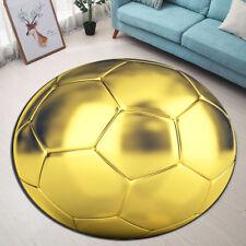 Round Area Rug Room Yoga Carpet Golden Football Floor Door Non-slip Beach Mat